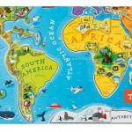 Otroška karta sveta za poučno igro z manj elektronike